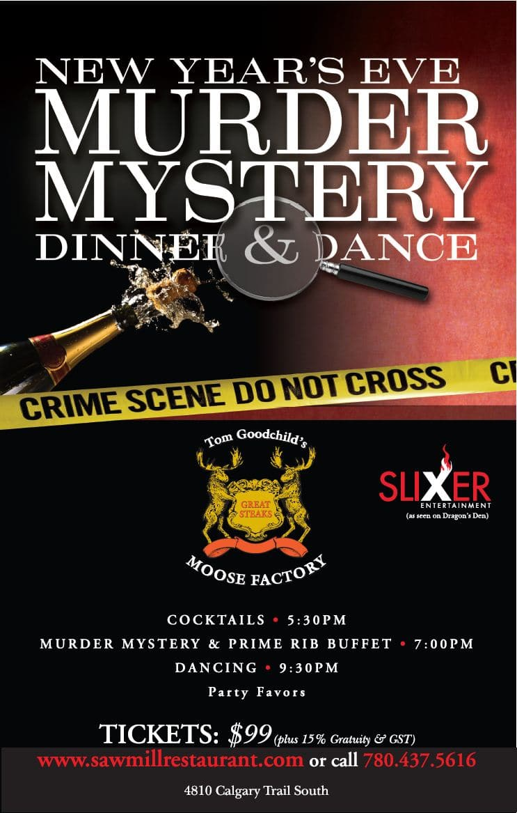 Edmonton - New Year's Eve Murder Mystery Dinner